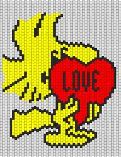 Woodstock Valentine Bead Pattern