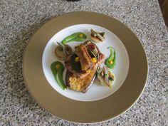 JHS *** /   Salsiccia   melenzana  e patata il piccante''( cipolla  acciughe e  salsa  verde   al peperoncino)''  della  ricetta  /Gino D'Aquino