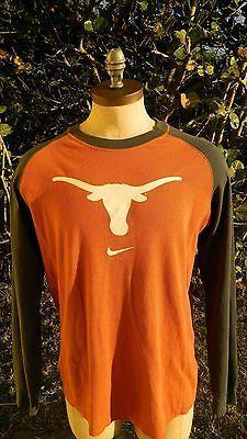 Mens Nike Texas Long Horns Long Sleeve Thermal Shirt  Size Medium