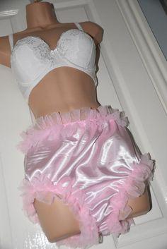 Chiffon lined satin posing panties in baby pink. White Satin, Pink Satin, Nylon Underwear, Beautiful Babies, Crossdressers, Women Wear, Chiffon, Two Piece Skirt Set, Feminine