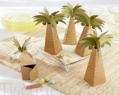 Tischdekor | Geschenkverpackung Palme