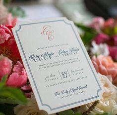 Letterpress Wedding Invitation • Custom Wedding Invitation • Formal Wedding Invitation • Custom Design • Custom Monogram • Diecut Wedding Invitation • Envelope Liner • Wedding Invitation Design