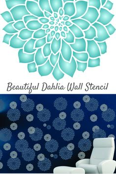 This beautiful flower stencil design is ideal for creating some sophisticated floral patterns on your walls and is available in a whole range of sizes.