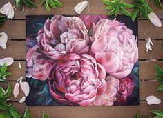 "726 Likes, 4 Comments - TimeToArt (@timetoart.ru) on Instagram: ""Beautiful Pink peonies by Diana Tuchs @diana_tuchs, Russia. Прекрасные розовые пионы Дианы Туш,…"""