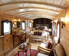 Converted railway car, now a boutique hotel in London