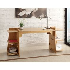 Have to have it. Legare Convertible Craft Desk - Amber Bamboo. - $409.99 @hayneedle