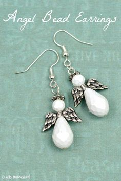 Beading is a great way to add a whimsical touch to any piece of jewelry.  These angel bead earrings are no exception.  Even if you have never made a pair of earrings, this tutorial from Crafts Unle…