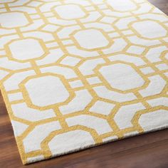 Octagon Trellis in Tufted Wool