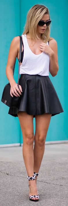Black And White Casual Summer Outfit Idea by Kier Couture