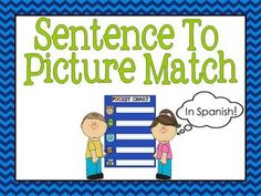 Sentence to picture match in Spanish is  a collection of 33 sentence picture match up cards. Mix the picture and sentence cards up, and students will need to carefully read each sentence and find the matching picture. When introducing the activity begin with only 5 picture sentence match up cards, and as students grow in confidence introduce more cards.Once you have completed the activity try giving students just the pictures and see if they can create their own sentence to go with it.These…