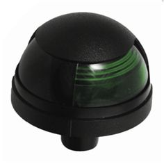 Attwood Pulsar™ 1-Mile Deck Mount, Green Sidelight - 12V - Black Housing