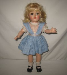 "1950's Ideal 14"" HP Platinum Blonde Toni Doll in Original Dress  P-90  ML76 in Dolls & Bears, Dolls, By Brand, Company, Character, Ideal, Toni 