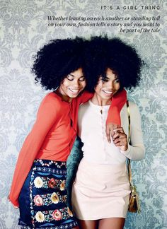 Brazilian twin models Suzana and Suzane Massena for Elle South Africa February 2015