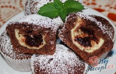 Veľmi jednoduché, chutné a rýchle muffiny:)) Sweet Desserts, Sweet Recipes, Mini Cheesecakes, Healthy Cookies, Sweet Cakes, Desert Recipes, No Bake Cake, A Table, Baking Recipes