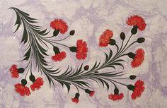 Master paper marbeling. Floral Ebru by Necmettin Okyay