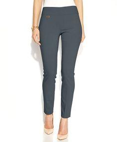 Alfani Petite Tummy-Control Pull-On Skinny Pants - Pants & Capris - Women - Macy's