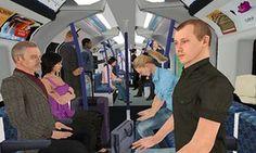 Patients experienced a total of seven simulated journeys in an underground train…