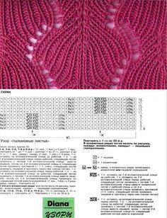 "Photo from album ""Маленькая Diana 1994 on Yandex. Lace Knitting Patterns, Basic Crochet Stitches, Knitting Charts, Knitting Stitches, Stitch Patterns, Knit Crochet, Crochet Hats, Knitting Magazine, Craft Room Storage"