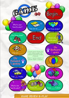 Game Board 6  Contents-Game Review booklet and theme flashcards.  Contains Everyday English, game review, grammar summary and worksheets.  Everyday English: What's your favorite color, Ann? What's your favorite color, Ann? My favorite color is purple. I love blue.  Theme: Clothing shoes, sweaters, socks, t-shirts, shirts, skirts, dresses, jackets.    Grammar: Plural Nouns (Those)  Those are t-shirts.  They aren't shirts. What are those?  Are those jackets?
