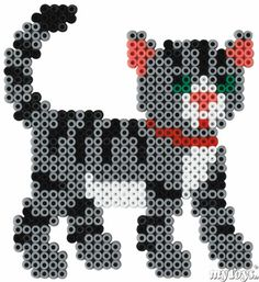 Cat  Hama Perler beads - Katze Bügelperlen