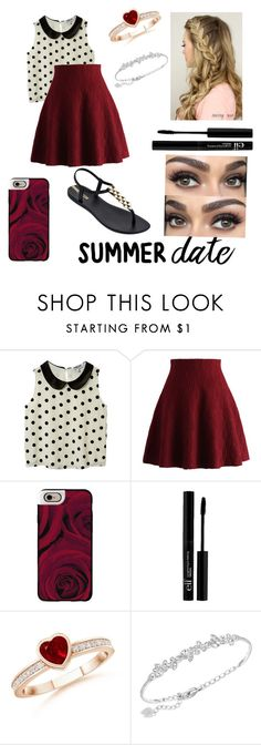 """""""Summer date"""" by hogwarts-is-home ❤ liked on Polyvore featuring New Look, Chicwish, Casetify, e.l.f., Swarovski, IPANEMA, summerdate and rooftopbar"""