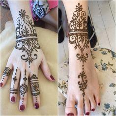 My work - henna - hand and foot