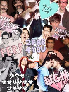 brendon urie + dallon weekes of panic! at the disco