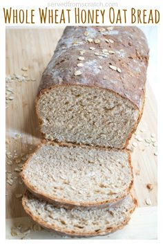 This is delicious! It makes just one large loaf. This Whole Wheat Honey Oat Bread is the perfect healthy, hearty, sandwich bread and easy enough for any new bread baker to make! Oat Bread Recipe, Honey Oat Bread, Whole Grain Oatmeal Bread Recipe, Ancient Grain Bread Recipe, Healthy Sandwich Bread Recipe, Bagels, Quick Bread, How To Make Bread, Tortillas