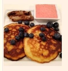 Glendora's Pancake Recipe Ingredients: 1 c. almond meal  1/4 tsp. baking powder  dash salt  3 eggs  1/2 tsp. vanilla extract  1/3-1/2 pkt Stevia  few tsps heavy cream (or water)  Directions: Stir almond meal, salt, stevia and baking powder in a medium bowl, add in three eggs and vanilla extract. Mix with fork and let rest for 5 min. Add a tsp or two of the cream (water would probably be fine too) to give it pancake batter consistency.  Net carbs: 12 per recipe, or 3 per pancake