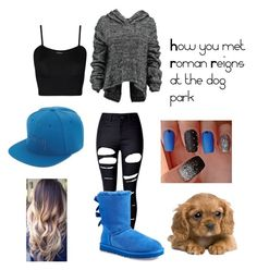 How You Met Roman at the dog park by mrs4mbrose on Polyvore featuring polyvore fashion style Taylor WearAll WithChic UGG Australia Stussy clothing