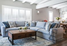 Small living room painted in Benjamin Moore Baltic grey. #BenjaminMooreBalticgrey #SmallLivingroom Dannielle Albrecht Designs