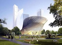 Daniel Libeskind created a design plan for a new contemporary art museum in Milan, Italy. Architectural concept produces a geometrical form of fluid from five square floor plates rotate is influenced by the Leonardo da Vinci's proportions of the vitruvian man, the twisting form promotes the visionary design.