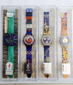 NEW Unused Swatch specials Atlanta 1996 Olympic games SAZ103 SCZ102 SDZ100 SEN100 in their original boxes by KGMDiamonds on Etsy