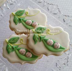 Sweet Handmade Cookies: Sweet Pea Baby Shower Cookies
