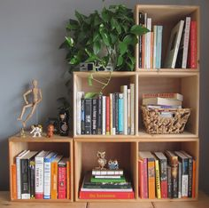 Interior Design based in NYC, Alive + Kicking Design, unfinished wood cubby shelving, shelf styling Wood Crates, Milk Crates, Indian Home Decor, Unfinished Wood, Awesome Bedrooms, Storage Bins, Home Organization, Wood Furniture, Living Room Designs
