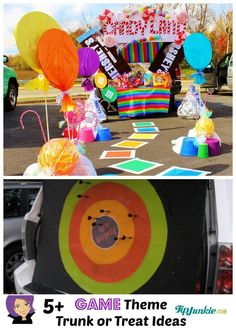 Trunk or Treat Halloween Car Decorations and Party games.