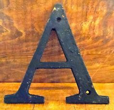 cast iron letters alphabet mountable signs house letters