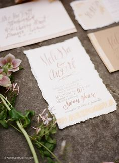 Photography: Koby & Elizabeth Brown, KobyBrown.com | Swan House in Atlanta, GA | Historic Venue Wedding | Vintage Lace Wedding Gown | Estate Wedding | Hand Calligraphy Wedding Invitation by Small Chalk