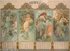 Kunst-Art: van Alfons M.MUCHA ~The Seasons (1896)~
