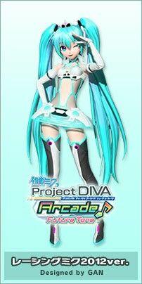 Hatsune Miku: Racing Miku 2012ver. Vocaloid, Hatsune Miku Outfits, Kaito, Blender 3d, Hatsune Miku Project Diva, Kaai Yuki, Miku Chan, Mikuo, Rawr Xd