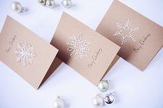 Rotkehlchen: DIY: Snowflake Christmas Cards