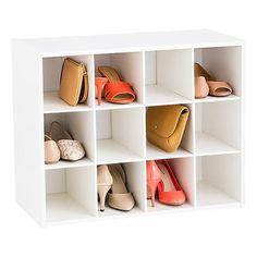 Shoe Organizer at The Container Store Tiny Closet, Master Closet, Closet Bedroom, Front Closet, Shoe Storage Solutions, No Closet Solutions, Storage Ideas, Door Shoe Organizer, Purse Organization