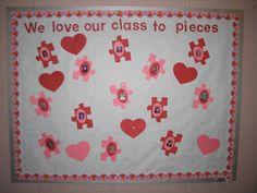 Pre-K Bulletin Boards for February | February Bulletin Board | February; Valentine's Day (preschool)