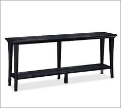 Metropolitan Long Console Table #potterybarn  Possibly to go along the back side of a long sectional