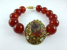 Repurposed Vintage Jewelry  Bracelet clip earring