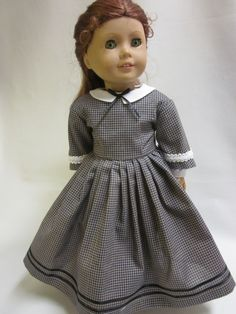 18 inch American Girl Doll Clothes Addy Kirsten by IndustriousDog, $15.00