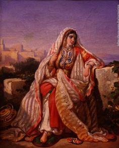 """""""Еврейка в традиционной одежде"""", 1834год, Огюст Делакруа (Франция)"""