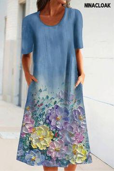 Day Dresses, Dresses Online, Blue Dresses, Casual Dresses, Summer Dresses, Shift Dresses, Midi Dresses, Vacation Dresses, Ladies Dresses