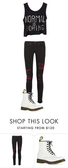 """""""Untitled #142"""" by maya-03-b on Polyvore featuring rag & bone and Dr. Martens"""