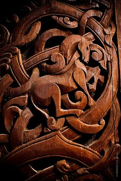 Wood carving - Norsk Folkemuseum by FotosFraOslo, via Flickr